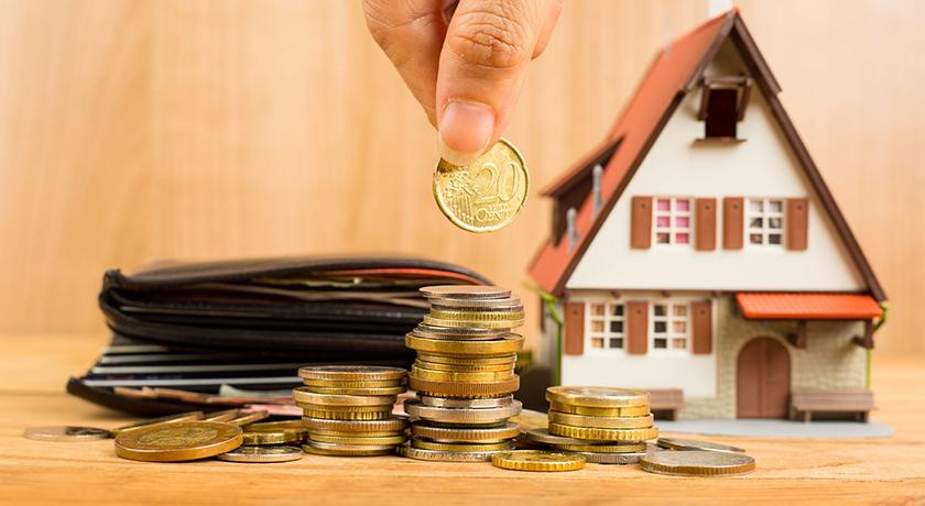 家とお金の模型